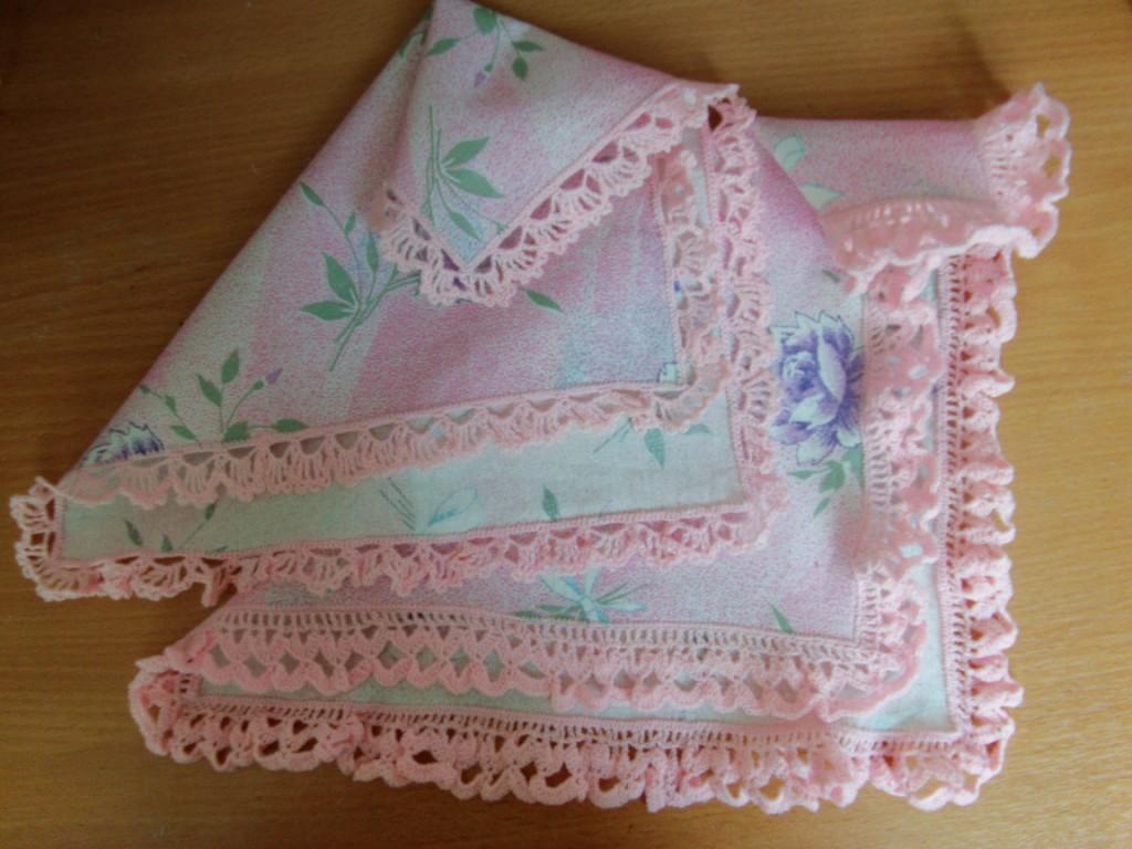 Вязание носовых платочков